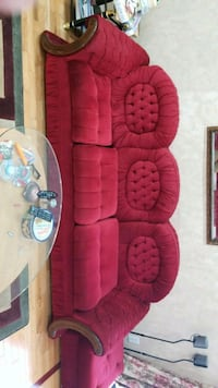 red and black fabric sofa Guelph, N1K