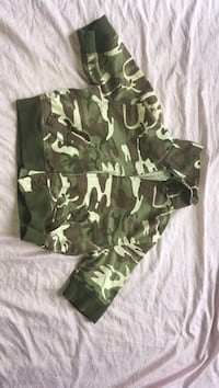 green, white, and brown camo full zip jacket Nashville, 37211