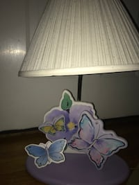 White, pink, purple butterfly table lamp Hanover, 02339