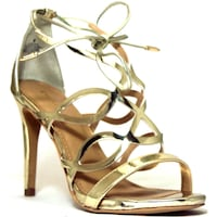 Express laced up gold heels Honolulu, 96826