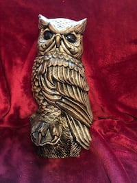 "Large 14"" owl statue"