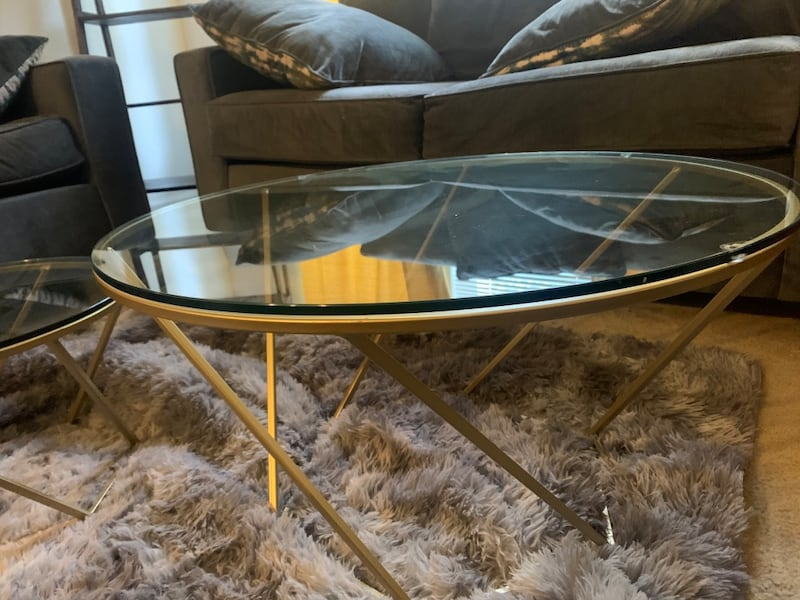 Wayfair Table and small side table. a9917e8c-4521-4004-9002-1981df45a7b4