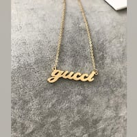 GUCCI NAMEPLATE NECKLACE  Mc Lean, 22102