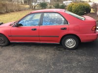 1997 Red Honda Civic DX Manual Transmission CRANBURY