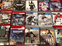 assorted Sony PS3 game cases Laval, H7T 2R9