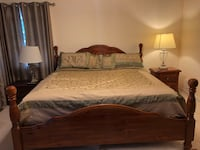 King Sized Bed w Mattress & set: 8-drawer dresser, 2-drawer side table Arlington, 22207