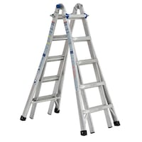 gray metal a-frame ladder GAITHERSBURG