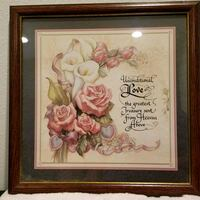 brown wooden framed painting of flowers Montebello, 90640
