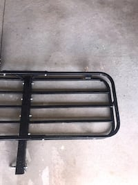 Car trailer hitch and cargo basket. Both for 50$ . Fits on any SUV