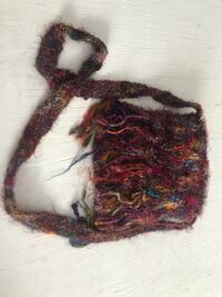 Purse, handmade In Nepal from recycled silk Arlington Heights, 60004