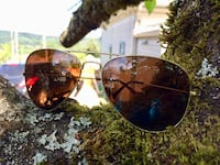 Gold framed aviator sunglasses with polarized lenses Ladysmith, V9G 1S8