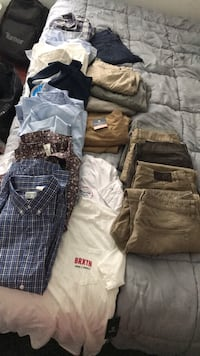 Assorted mens name brand clothing size XL and size 34-36 pants Herndon, 20170