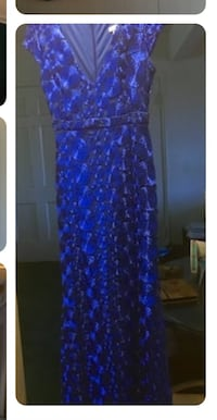 blue and black floral sleeveless dress Los Angeles, 90045