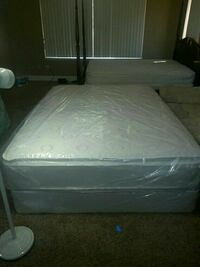 Queen  bed set pillow top can deliver