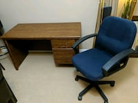 Office desk with two drawers and chair  Edmonton, T6J