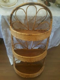 brown and white wooden bassinet Calgary, T2Y 2W5