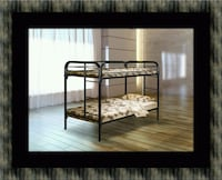 Twin bunk bed frame with mattress UNIVERSITY PA, 20782