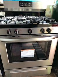 white and black gas range oven Englewood, 07631