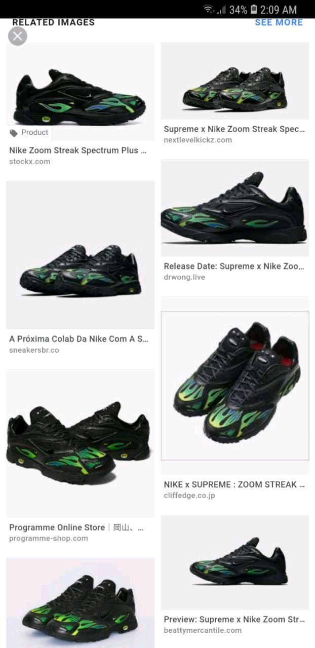 super popular 3945d 07df5 ... free shipping brukt nike supreme air streak spectrum plus blk sz9 grn  blk plus til salgs