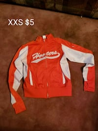 red and white zip-up jacket 527 mi