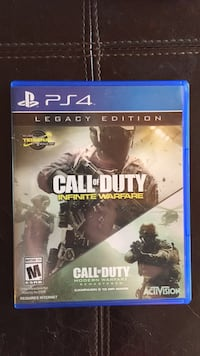 Call of Duty Infinite Warfare PS4 game case Coquitlam, V3B 2T3