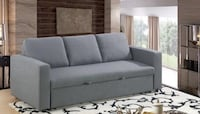 SOFA BED - GREY OR BROWN FABRIC, BLACK BONDED LEATHER Toronto, M6N 3G1