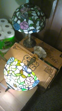 Leaded glass pair of lamps  Mobile