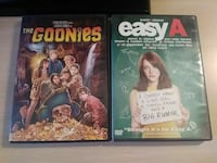 the Goonies and Easy A movie cases