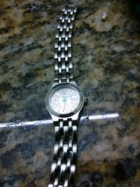 round silver-colored chronograph watch with link bracelet Spartanburg, 29303