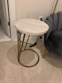 Brand new rose gold marble print c-table with USBs Alexandria, 22301