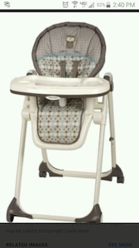 baby's white and gray high chair New Iberia
