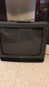 black CRT TV with remote Wilmington, 28412
