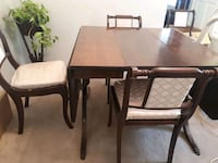 Antique table 4 chairs  Port Coquitlam, V3C 3K8