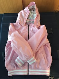 Kid's White and pink zip-up hoodie Montréal, H1Z