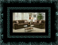 Chocolate fabric sofa and loveseat Gaithersburg