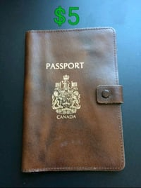 Leather Passport Wallet London, N6H 4R5
