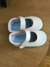 toddler's white-and-blue shoes Montreal