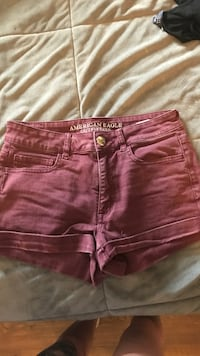 women's red denim shorts Spring Hill, 37174