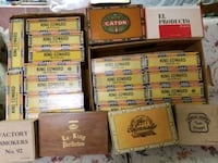 22 cigar boxes  in good condition.  Collectibles Perry Hall, 21128