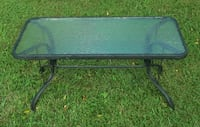 COFFEE TABLE-metal/glass Crossville