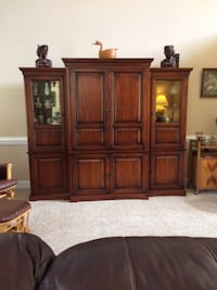 Cherry Stained Oak Entertainment Center Raleigh