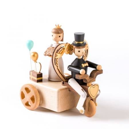 Wedding tricycle wooden musical box