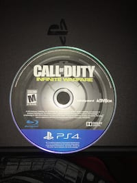 Call of duty infinite warfare ps4 game disc and case Flint, 48504