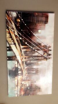 Canvas poster painting 53x29.5 Tulare, 93274