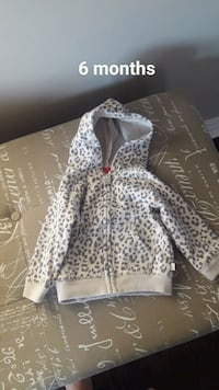 white and black leopard print zip-up hoodie Bradford West Gwillimbury, L3Z