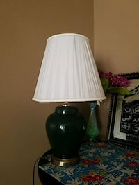 white and black table lamp Bristow