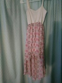women's white and pink floral sleeveless dress Eugene, 97402