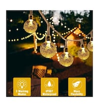 Battery Operated String Lights, 21.3ft 30 LED Beexcellent Globe Lights