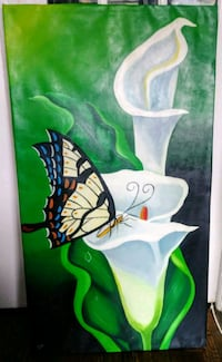 Stretched butterfly canvas art 40 km