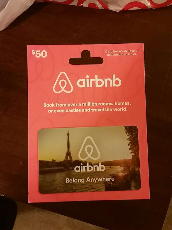 Used Airbnb Gift Card 50 Card For 40 For Sale In Easley Letgo